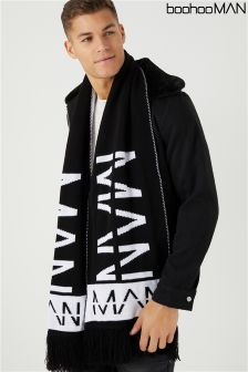 Boohoo Man Oversized Man Football Scarf
