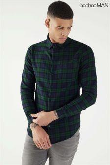 Boohoo Man Long Sleeve Check Shirt