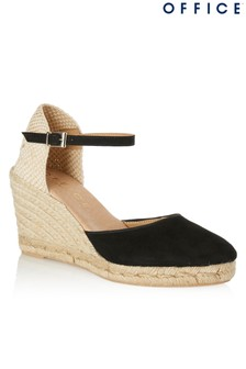 Office Suede Espadrille Sandals