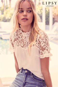 Lipsy Lace Shell Sweetheart Top