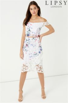 Lipsy Printed Lace Co-ord Skirt