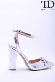 True Decadence Jewelled Court Sandals