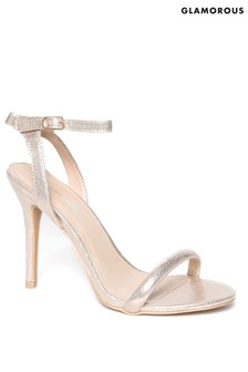Glamorous Tube Strap Barely There Sandals