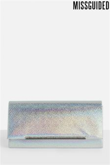 Missguided Box Diamanté Trim Clutch