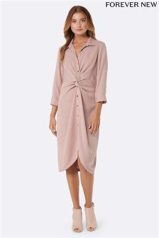 Forever New Twist Front Shirt Dress