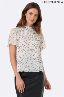 Forever New High Neck Blouse