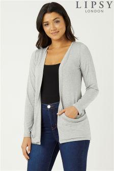 Lipsy Pocket Front Long Sleeve Cardigan