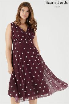 Scarlett & Jo Marilyn Spot Midi Dress
