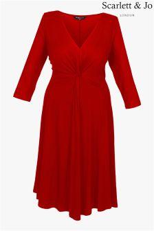 Трикотажное платье с узелком Scarlett & Jo
