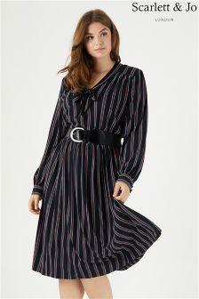 Scarlett & Jo Stripe Midi Dress