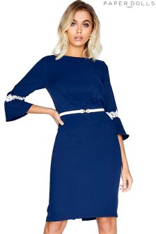 Paper Dolls Lace Trim Bodycon Dress