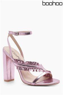 Boohoo Ruffle Detail Sandals