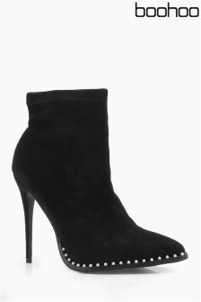 Boohoo Stud Detail Ankle Boots