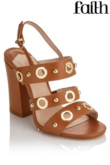 Faith Eyelet Block Heels