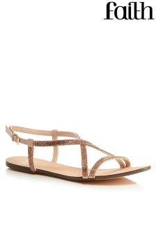 Faith Diamanté  Strappy Sandals