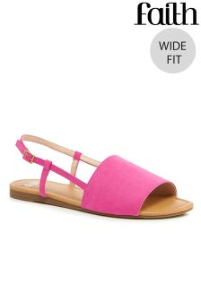 Faith Wide Fit Sling Back Sandals