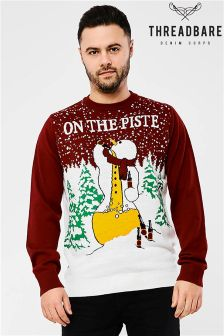 Threadbare Drinking Snowman Jumper