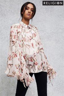 Блузка с цветочным принтом Religion