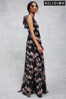 Платье макси с цветочным принтом Religion