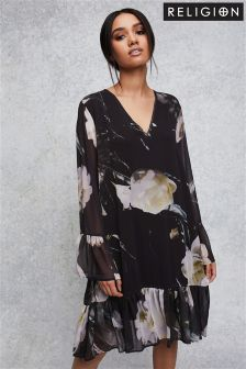 Свободное платье с цветочным принтом Religion