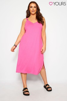 Yours Curve Must Have Summer Ring Detail Midi Dress
