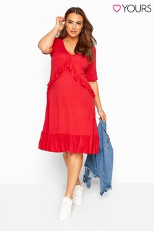 Yours Curve Jersey Frill Smock Dress