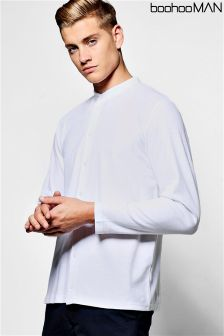 Boohoo Man Pique Longsleeve Shirt