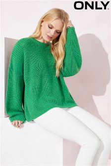 Only Pullover With Long Bell Sleeves