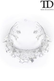 True Decadence Diamanté Leaf Hair Crown