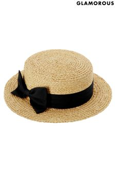Glamorous Bow Straw Hat