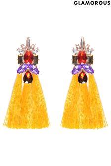Glamorous Jewelled Tassel Statement Earrings