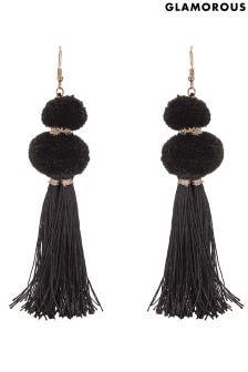 Glamorous Pom & Tassel Statement Earrings