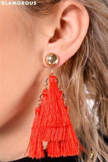 Glamorous Tiered Tassel Statement Earrings