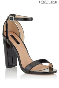 Lost Ink Block Heel Sandals