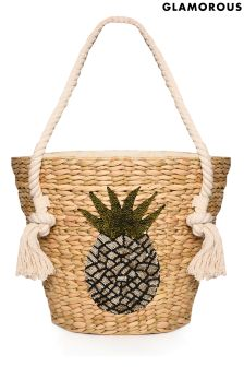 Glamorous Sequin Pineapple Beach Bag