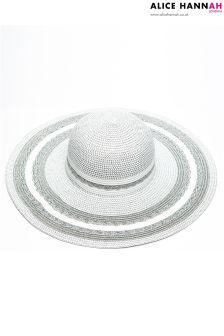 Alice Hannah Floppy Lurex Straw Hat