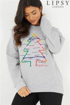 Lipsy Loves Paperchase Christmas Sweat Top