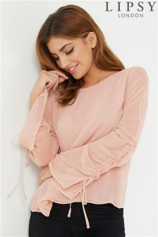 Lipsy Ruched Sleeve Blouse