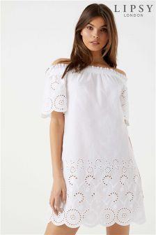 Lipsy Broderie Dress