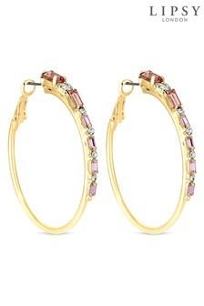 Lipsy Crystal Hoop Earrings