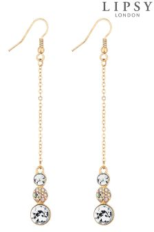 Lipsy Rainbow Crystal Chain Drop Earrings