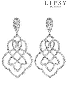 Lipsy Statement Crystal Filigree Earrings