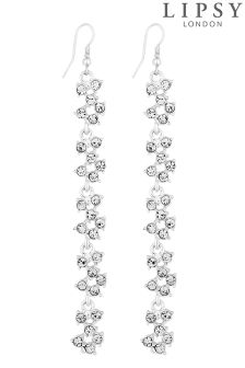 Lipsy Crystal Cluster Drop Earrings