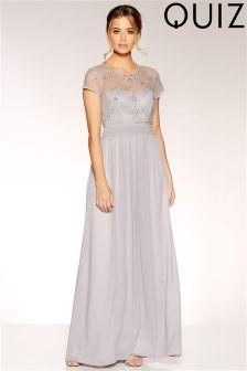 Quiz Embellished Maxi Dress