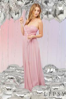 Lipsy Evangeline Sequin Bust Multiway Maxi Dress