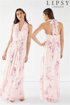 Lipsy Rebecca Amber Printed Multiway Maxi Dress