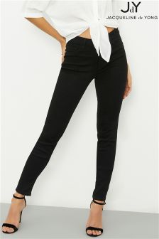 JDY Skinny-Jeans mit hoher Taille
