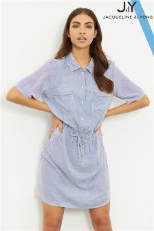 JDY Striped Short Sleeve Shirt Dress