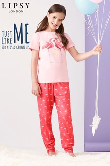Lipsy Girl Flamingo PJ Set