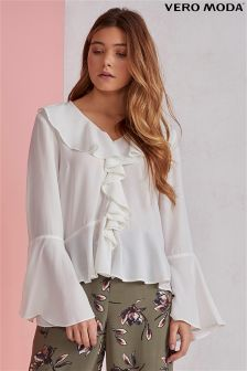 Vero Moda Nix Long Sleeve Ruffle Top